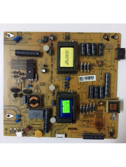 17IPS19-5, 23157377, Vestel 39PF5065, Power Board, Besleme, VES390UNVA-01